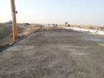 Бетонирование накладной плиты мостового полотна моста