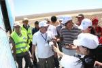 Участники пресс-тура на границе Кызылодинской и Актюбинской областей