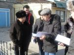 15.01.11. Going round the trade objects, built-up by encroachment in Yntymak village (Shymkent)