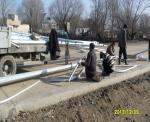 Installation of lighting poles