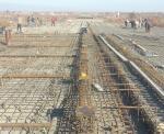Армирование накладной плиты на мосту ПК106