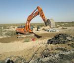 Culvert excavation at the ramp at PK878+00