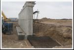 PK 17+10 support #1 Reinforcement of backwall foundation