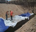 Concrete works on culvert, CWC Cengiz Inshaat Tranche 3
