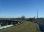 Installation of guardrails on interchange