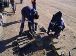 Concrete Pavement PK 430+50,Samples for Compressive Strenght test